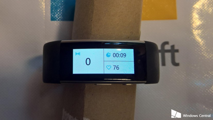 Microsoft Band 3 swim tile information