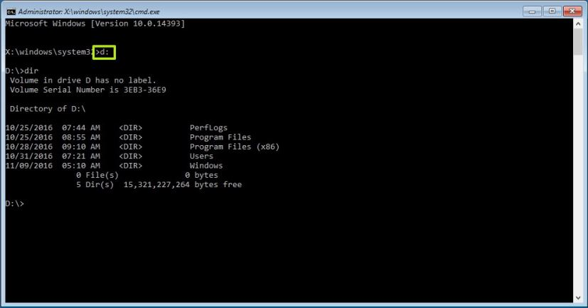 Command Prompt in Advanced startup