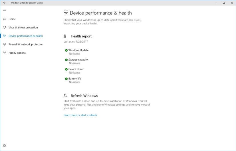 Device Performance & Health