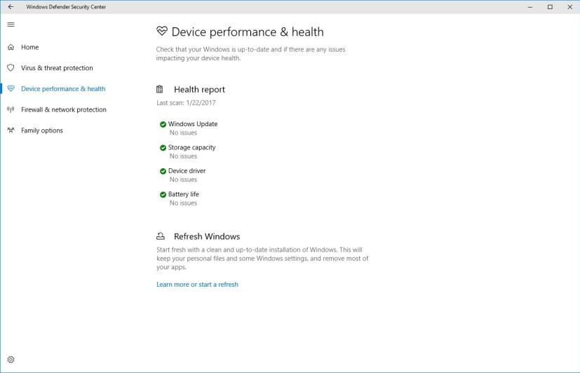 Device Performance & Health