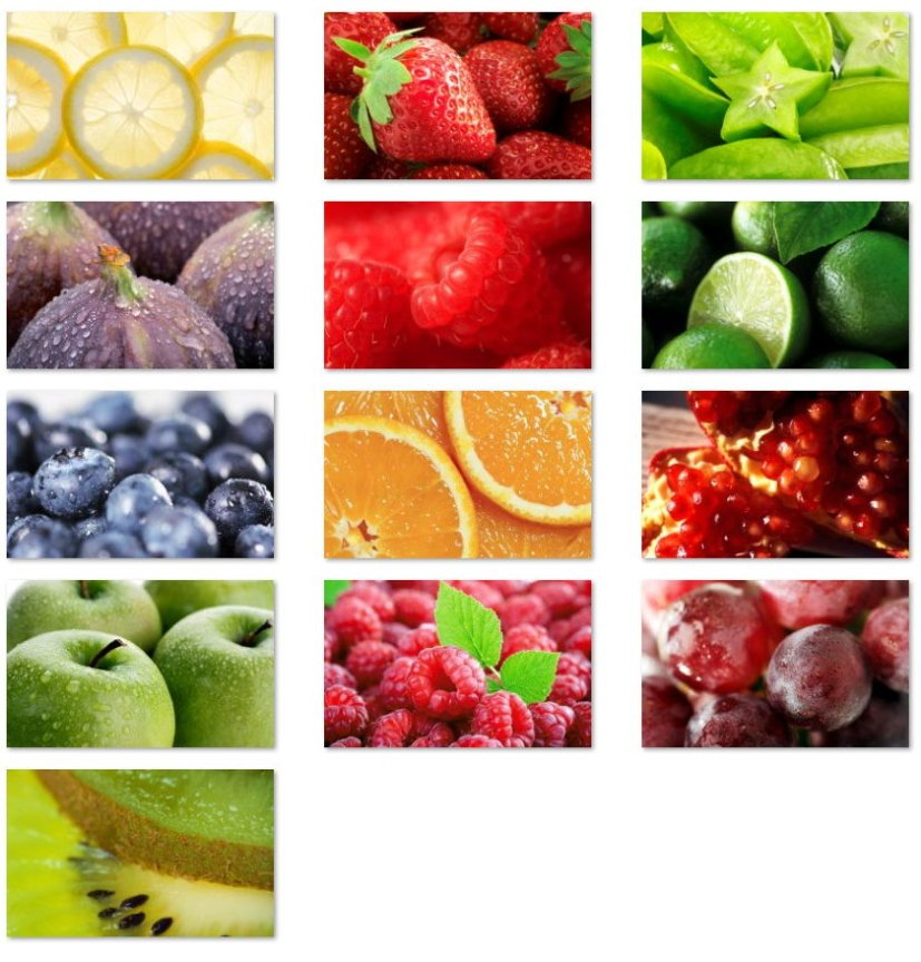 Fresh fruits wallpapers