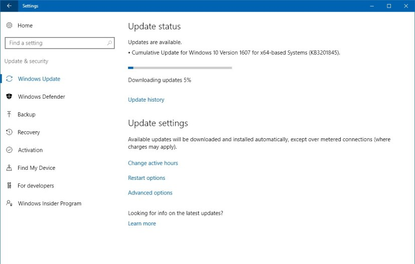 KB3201845 for Windows 10