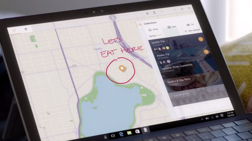 Maps Collections features for the Windows 10 Creators Update