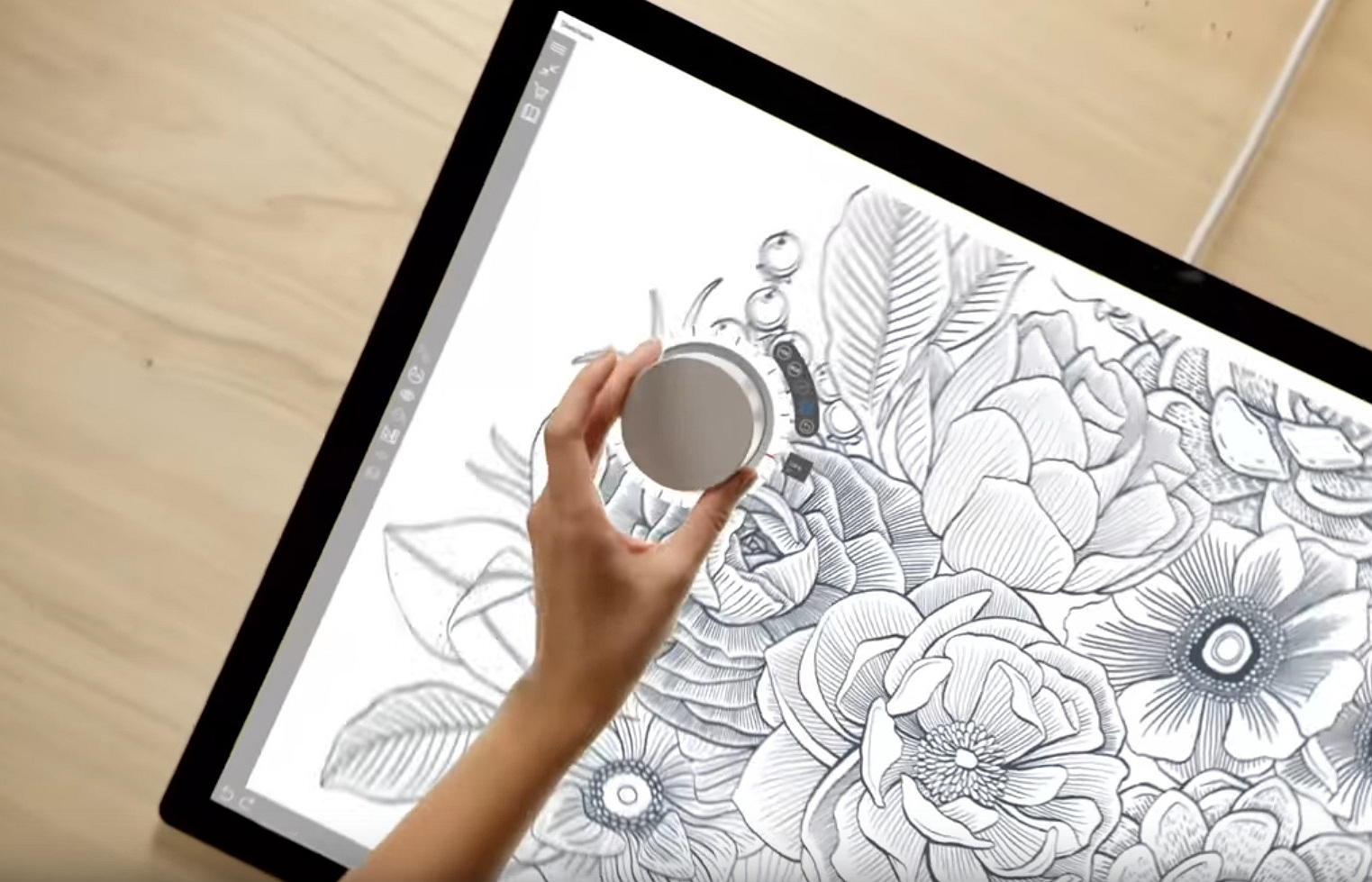 Surface Dial on-screen