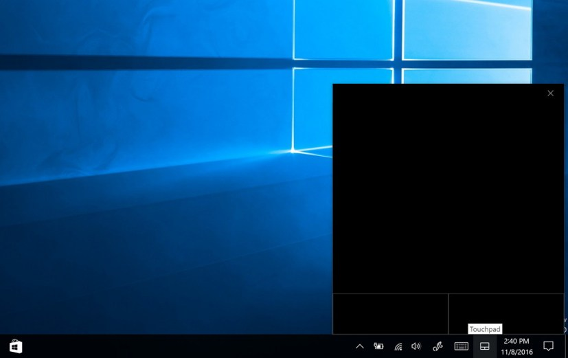 Virtual Touchpad for the Windows 10 Creators Update