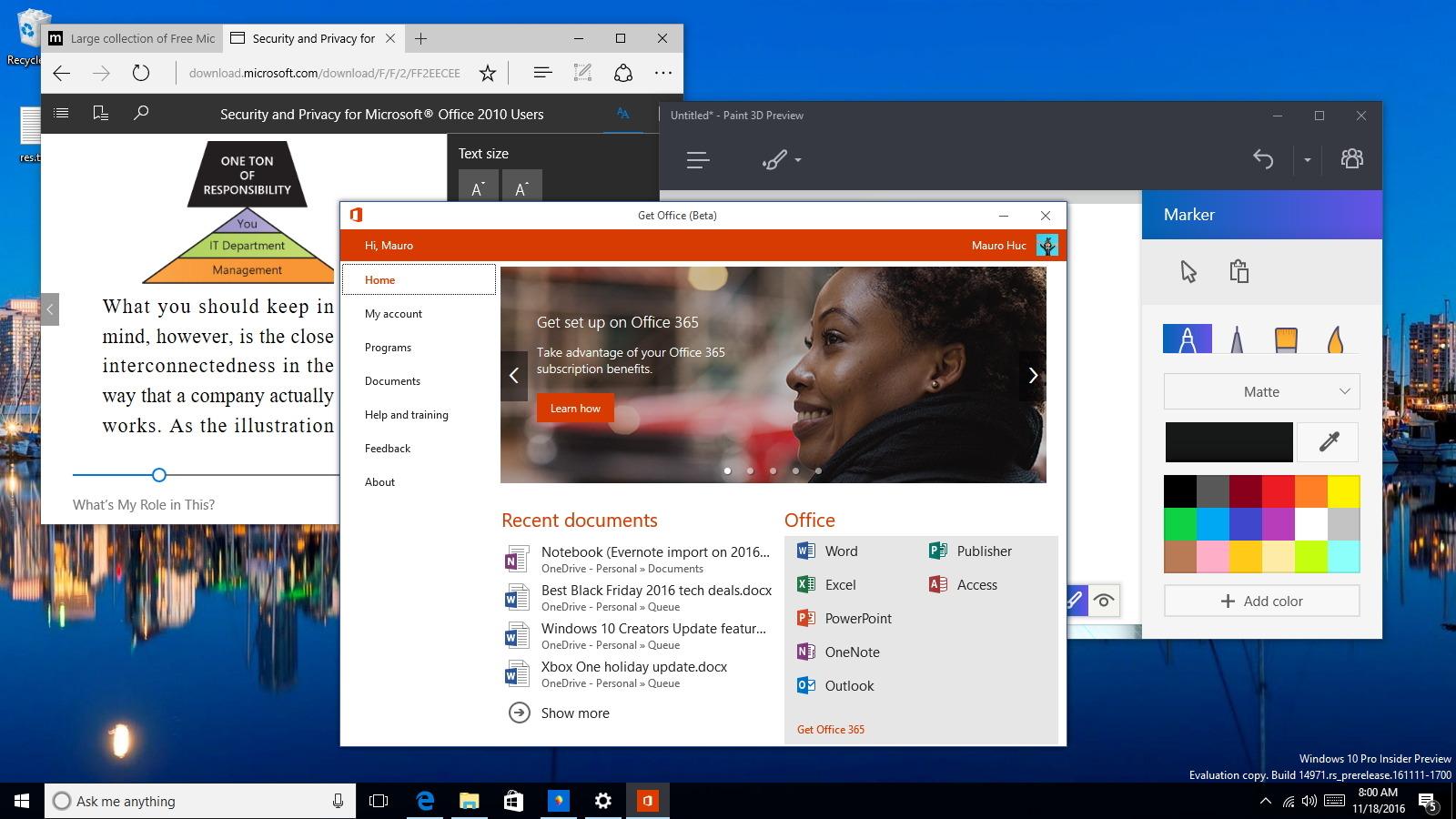Windows 10 build 14971