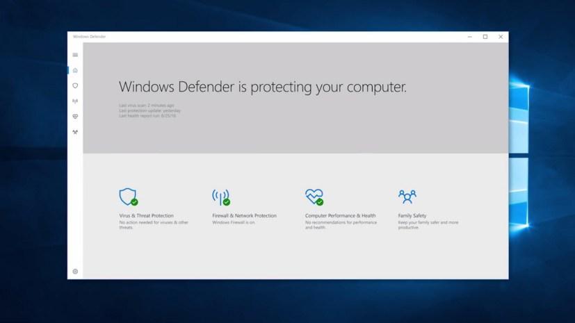 Windows Defender app for the Windows 10 Creators Update