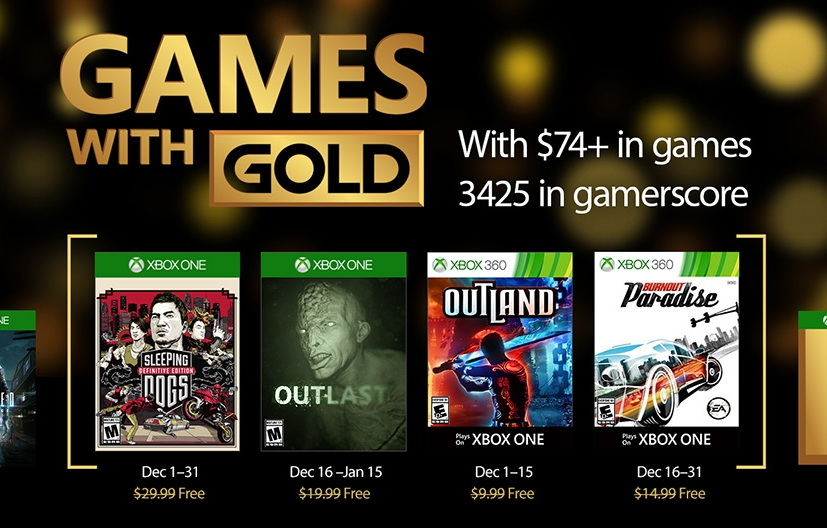 Xbox Games with Gold for December 2016