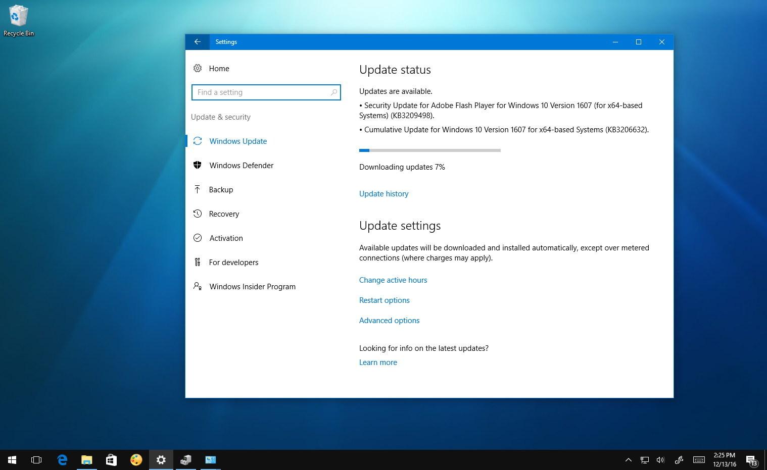 Windows 10 update KB3206632