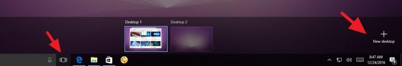 Create new virtual desktop on Windows 10