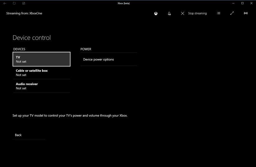 Xbox One Device Control TV & Audio receiver