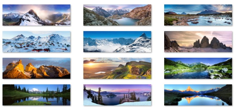 Mountains panoramic wallpapers