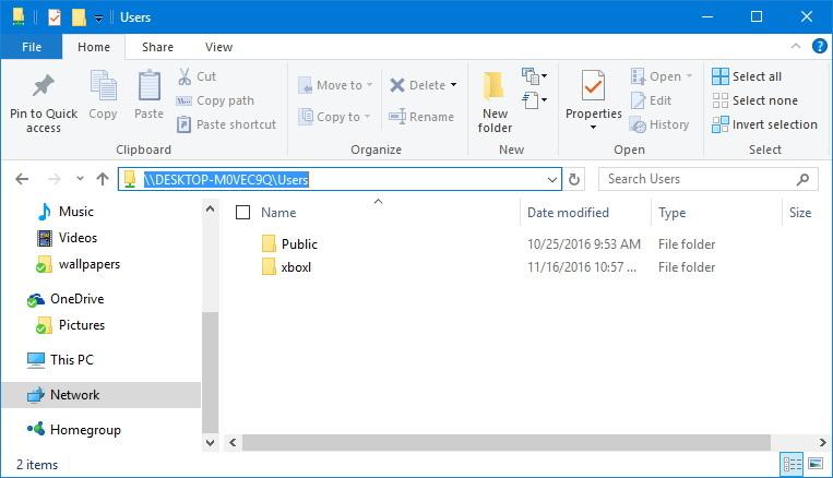 Network Public folder