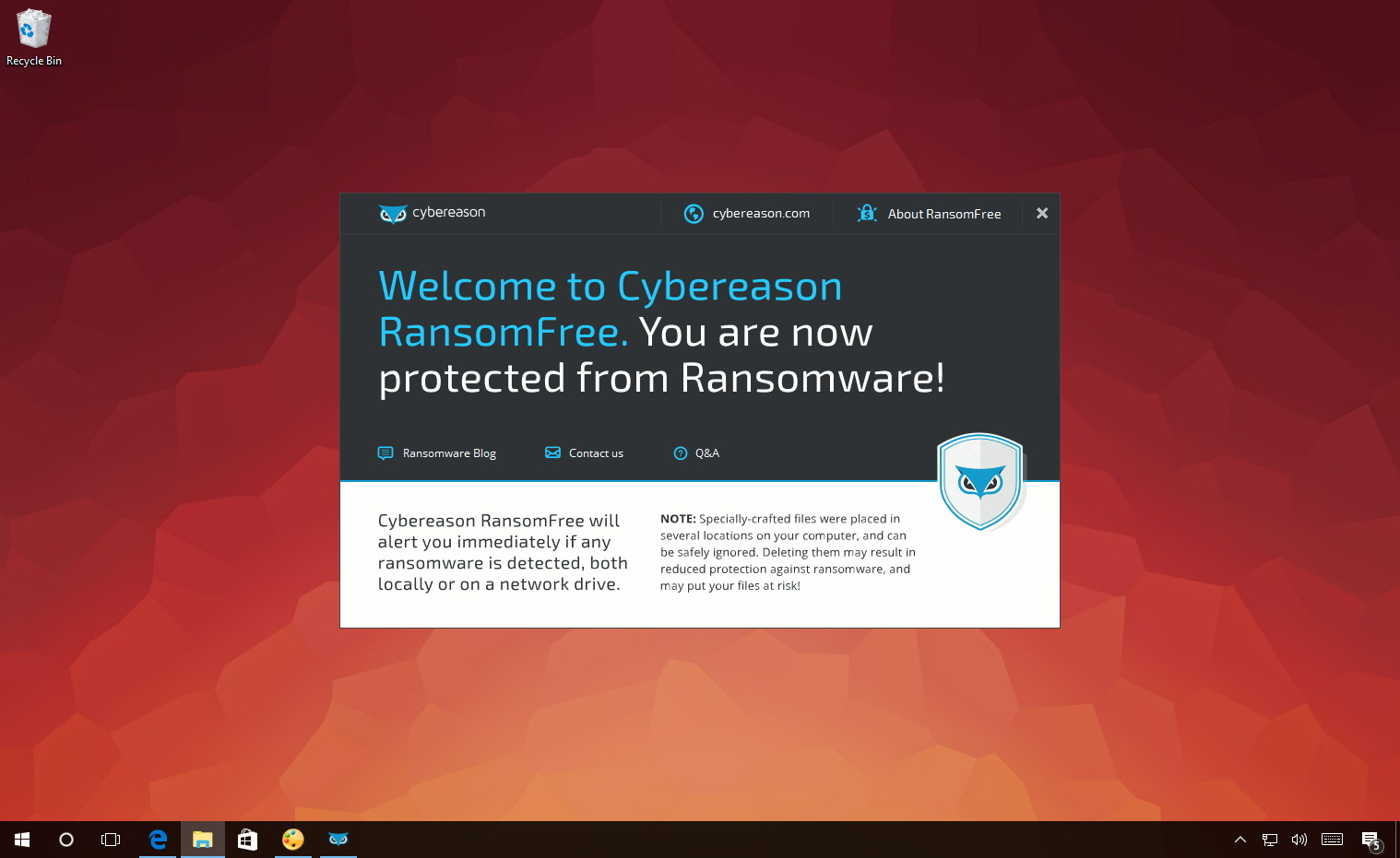 Cybereason RansomFree anti-ransomware software