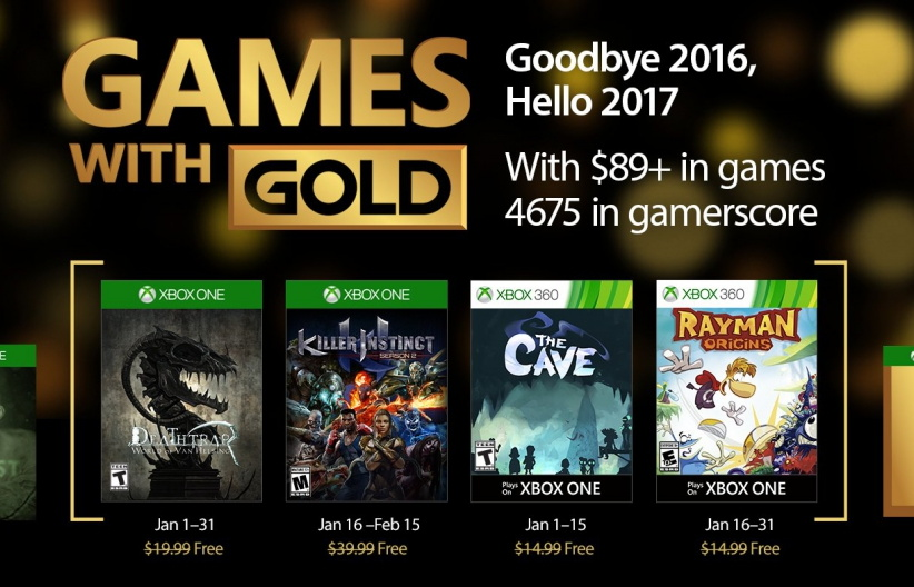 Games with Gold January 2017