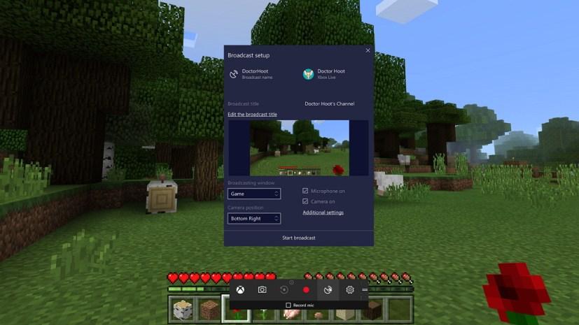 Beam broadcasting on Windows 10