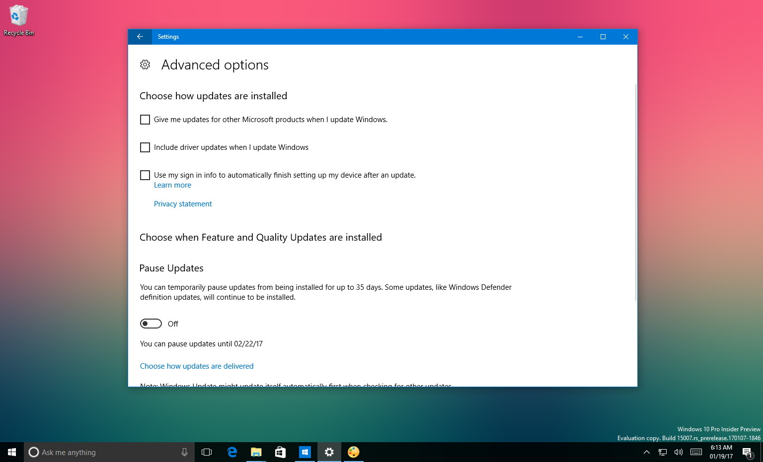 Windows update troubleshooter - Windows 10 Driver Update Option