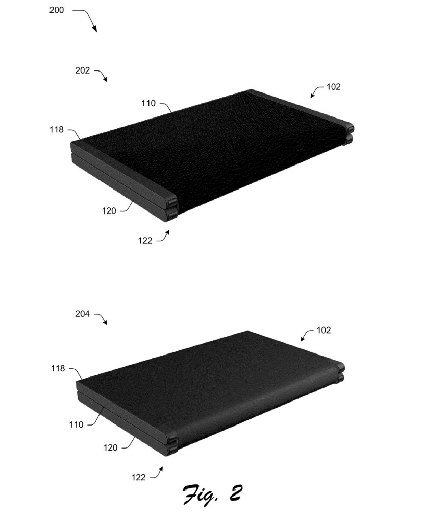 Microsoft patent mockup: device with screen folded