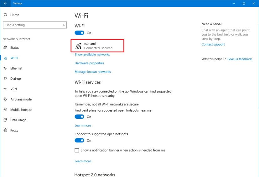how to set wifi on windows 10