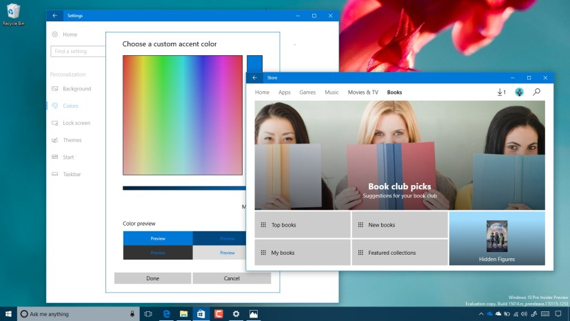 Windows 10 build 15014 hands-on video