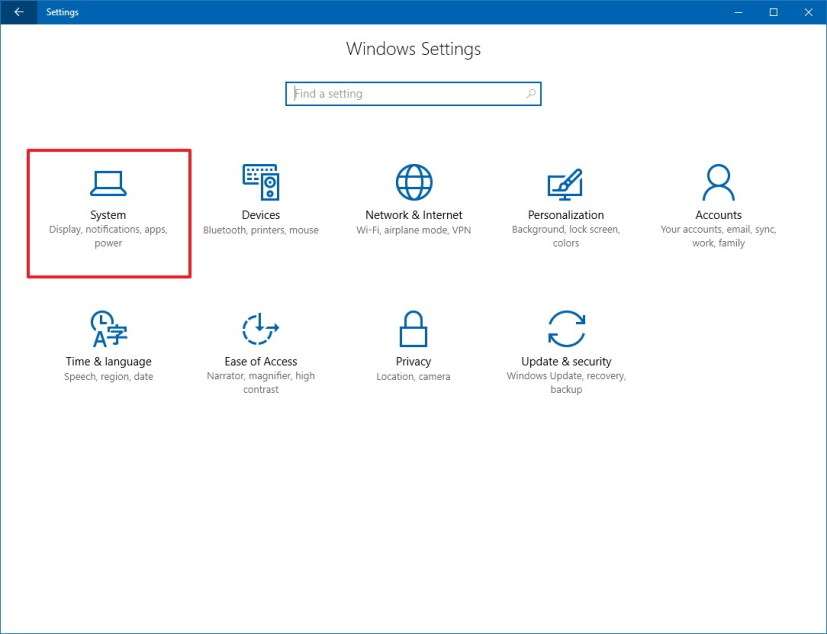 Windows 10 Settings: System