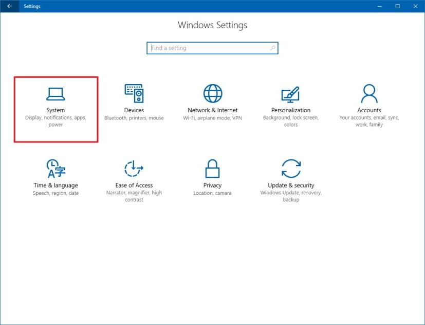 Windows 10 Settings: System