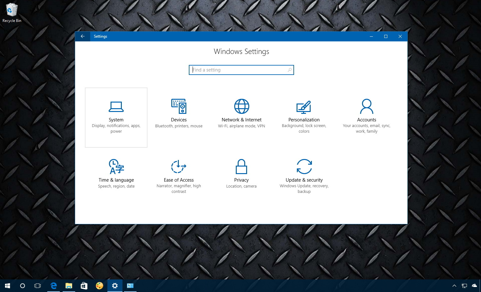 Windows 10 Settings, System