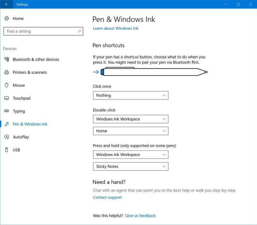 Pen & Windows Ink customization settings (part 2)