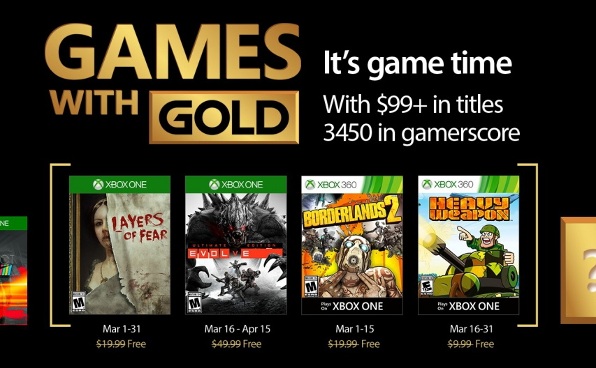 March 2017, Xbox Games with Gold