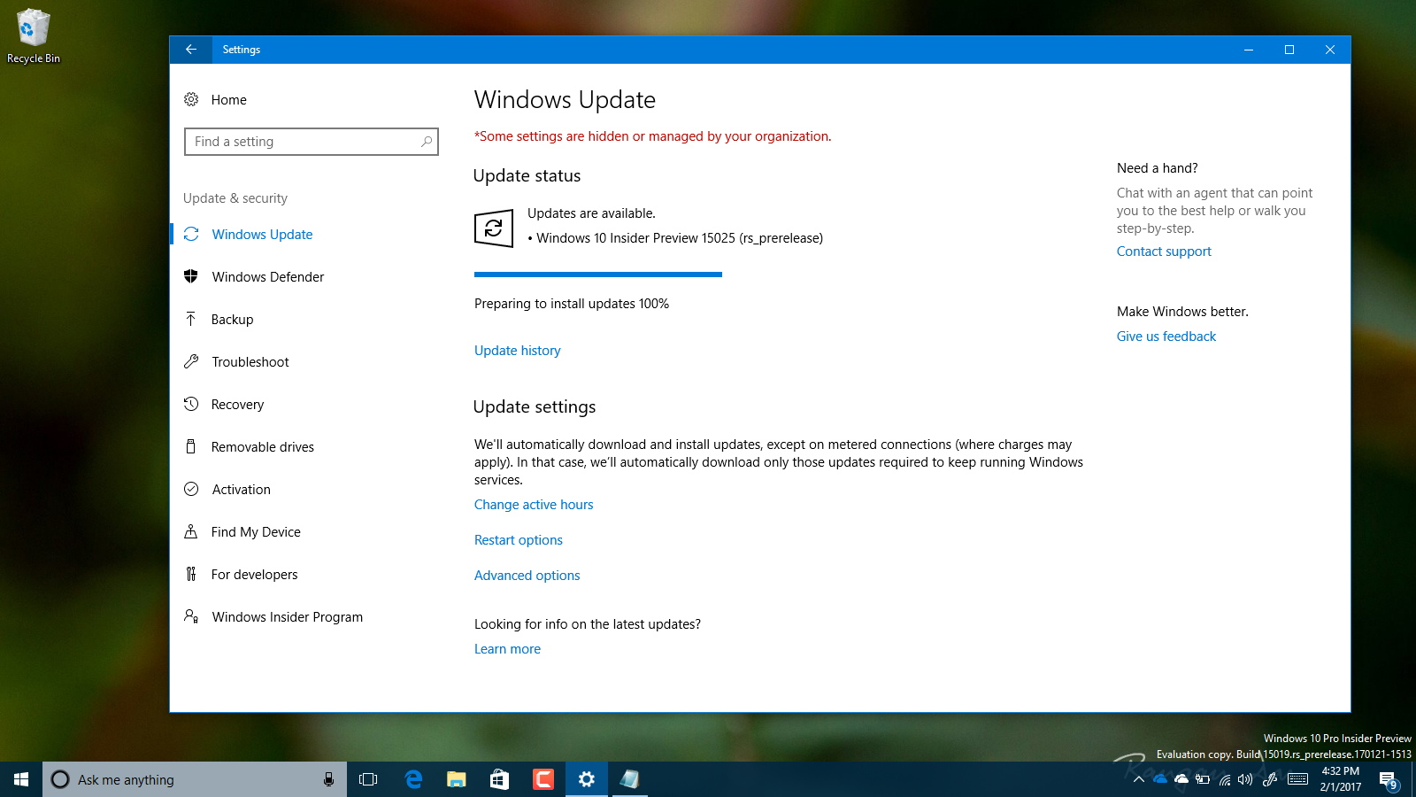 Windows 10 build 15025 rolls out with new features • Pureinfotech