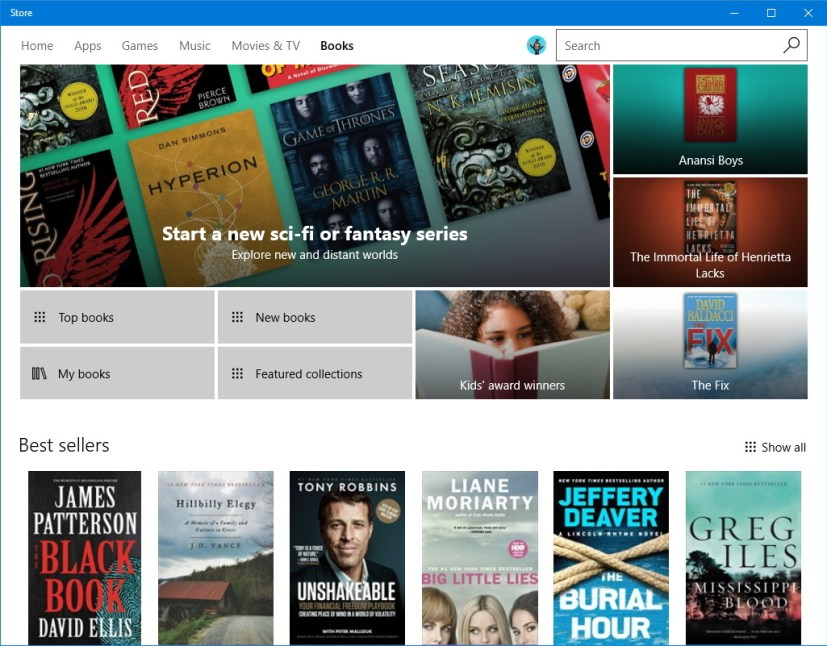 Windows Store Books