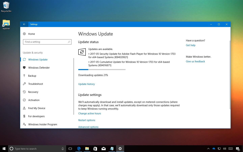 Windows 10 update KB4016871