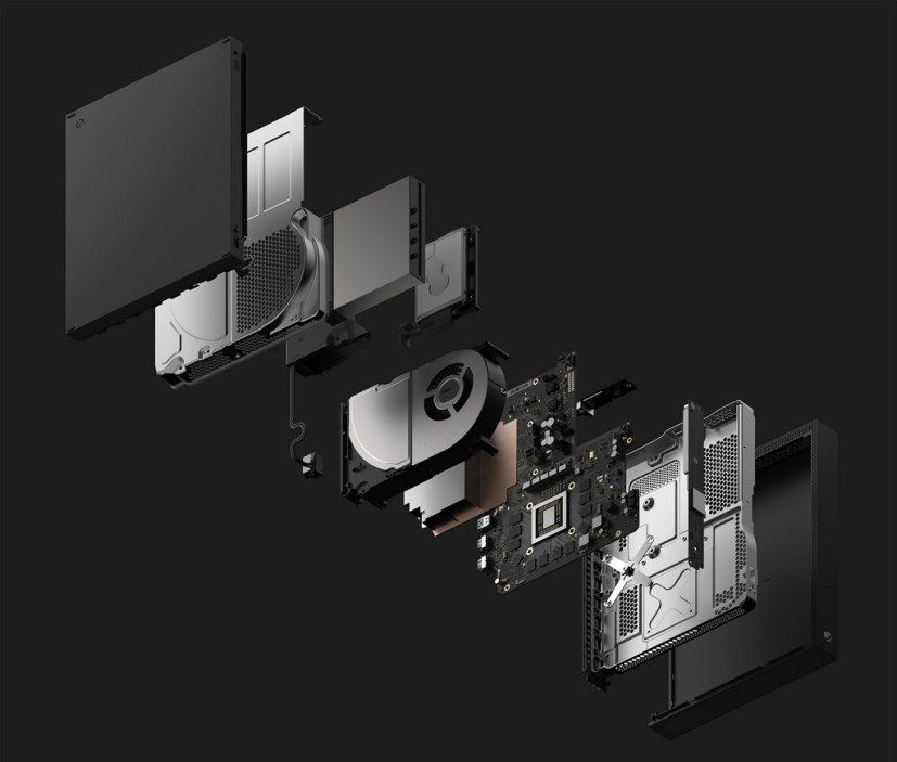 Xbox One X Console Explode Dark Gray