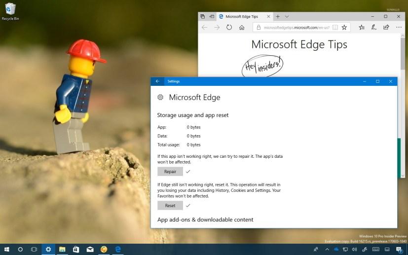Fix Microsoft Edge on Windows 10