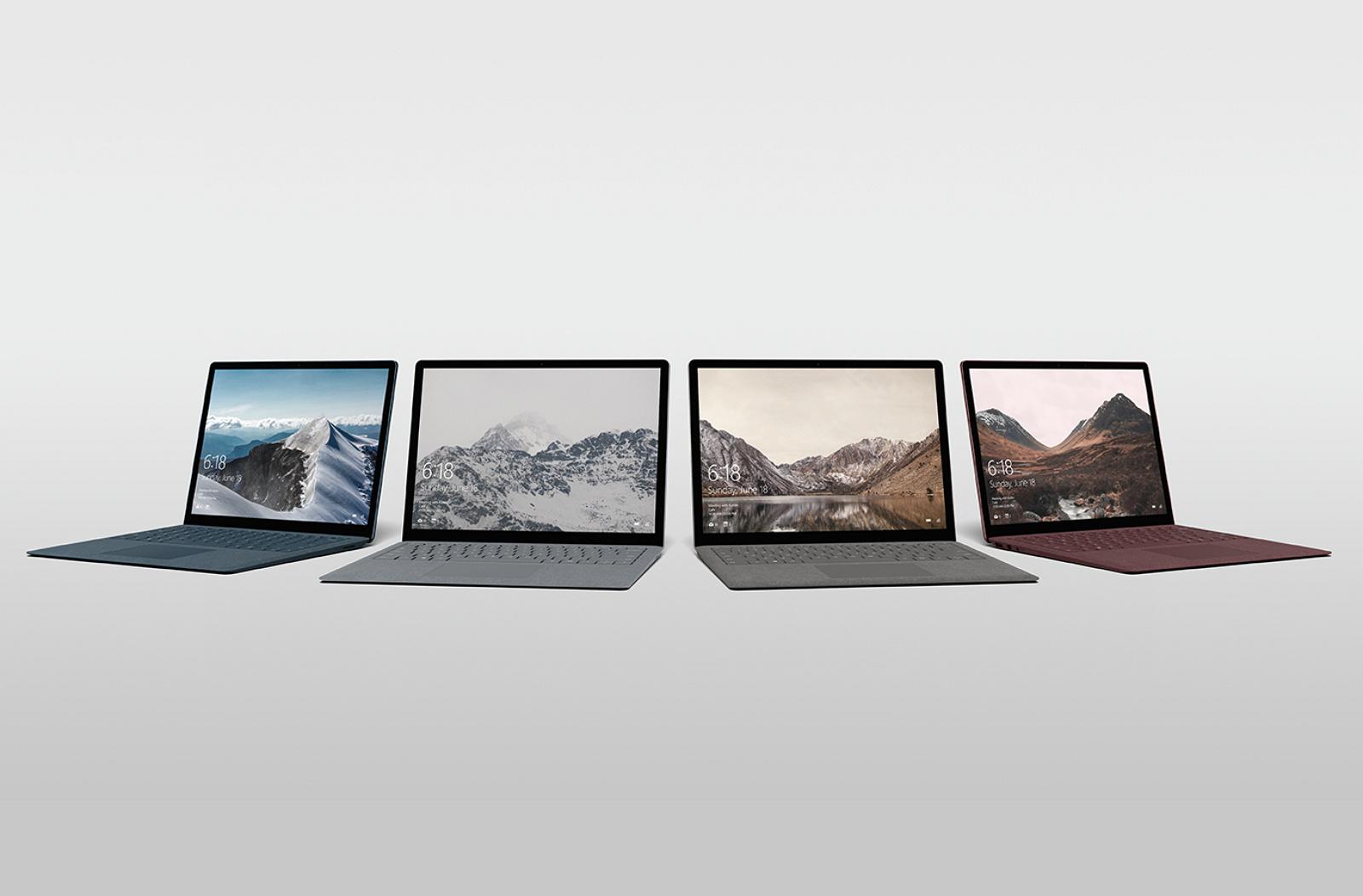 Surface Laptop four colors