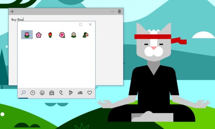 Windows 10 Emoji Panel