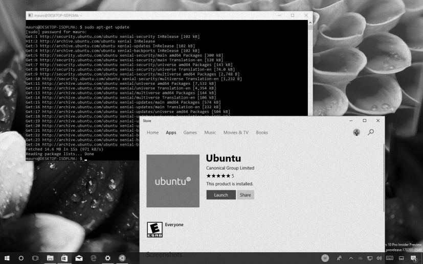 Ubuntu Linux for Windows 10 in this Tech Recap