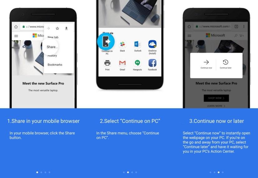 Windows 10 phone to PC link