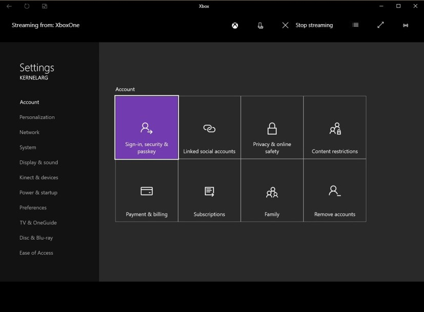 how to change instant sign in on xbox one s