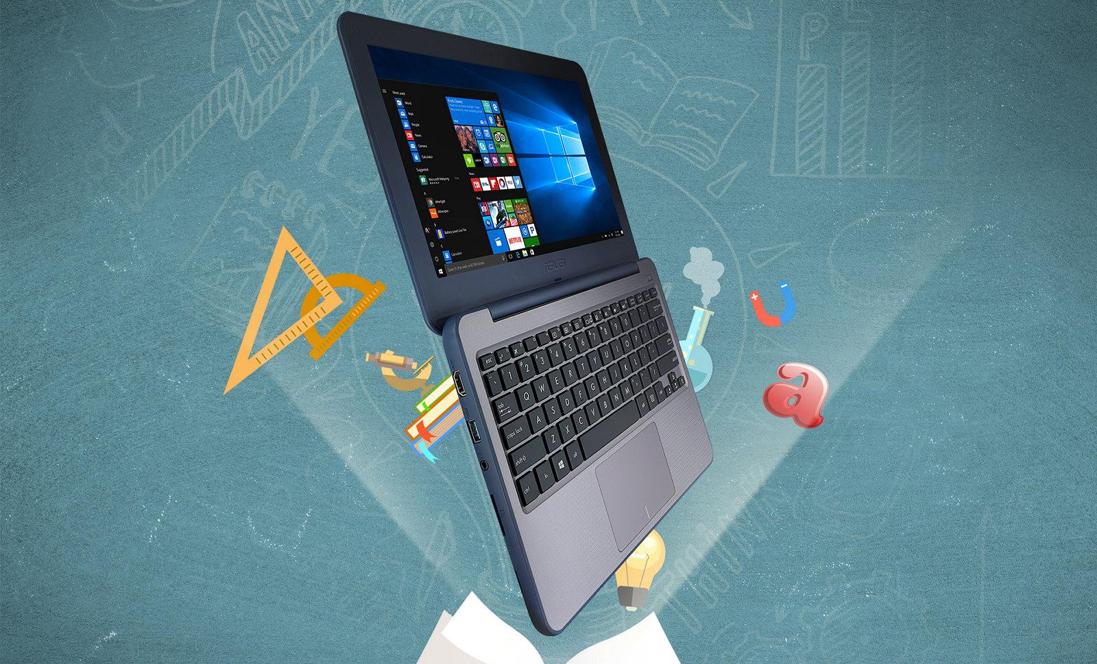 Asus VivoBook W202 running Windows 10 S