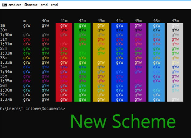 Command Prompt new color scheme