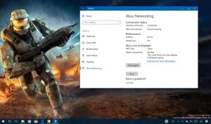Xbox Networking settings on Windows 10