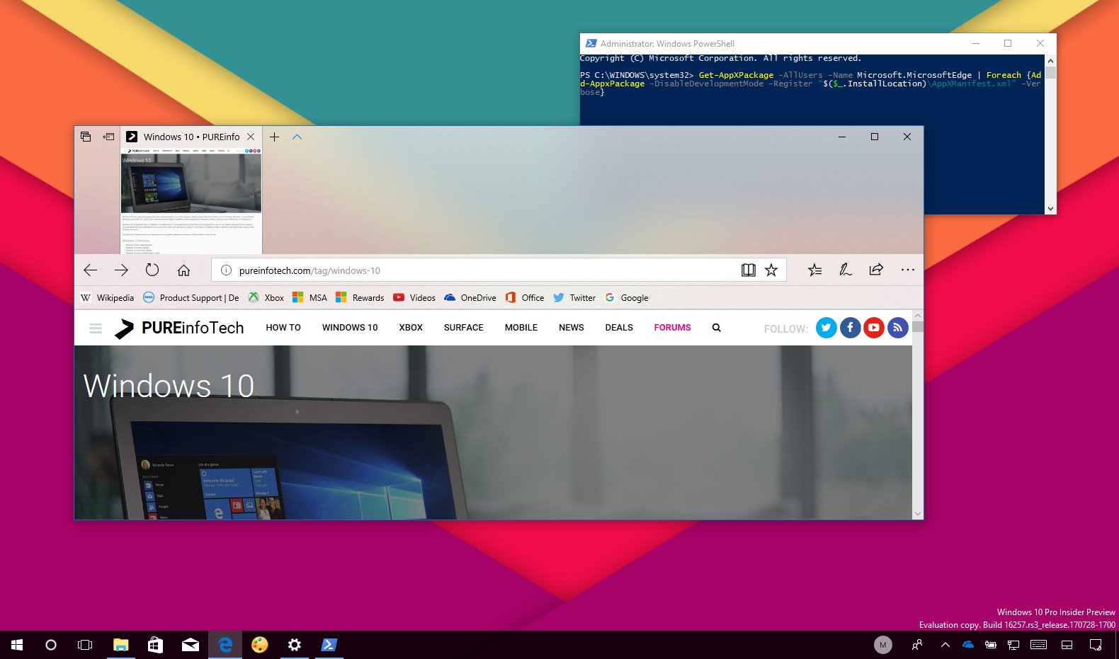 reinstall microsoft edge on windows 10