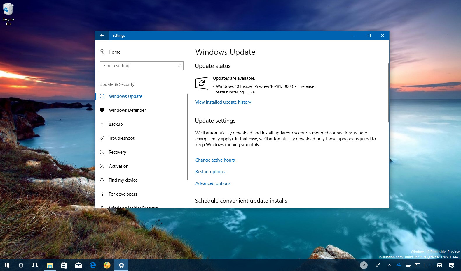 windows 10 build 16281