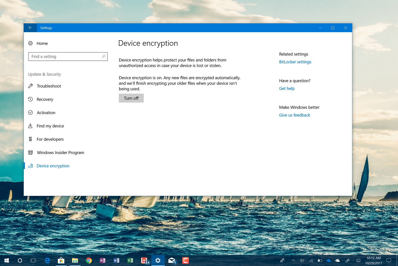 Windows 10's BitLocker on Surface