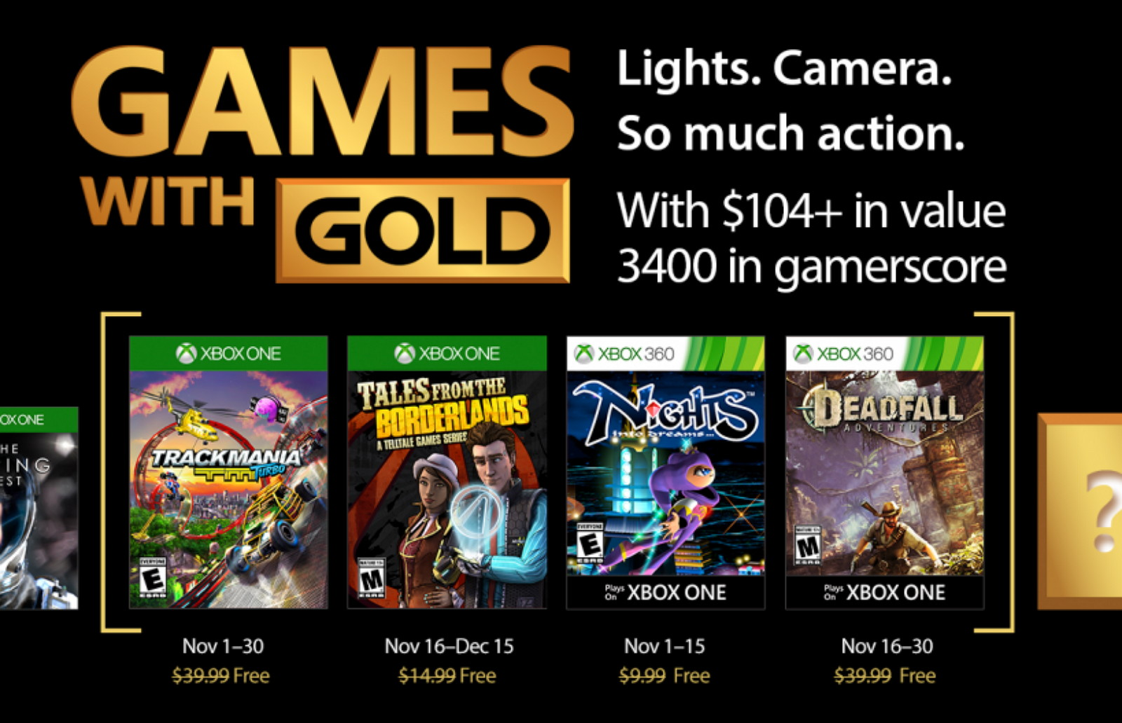 Xbox Games with Gold for November 2017