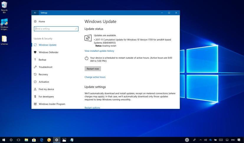 Windows 10 update KB4048955