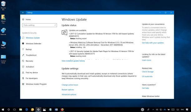 Windows 10 Update KB4054517
