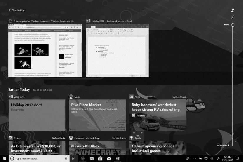 Windows 10 Timeline on this weekly digest
