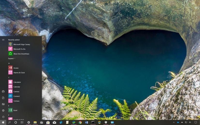 Heart in Nature theme for Windows 10